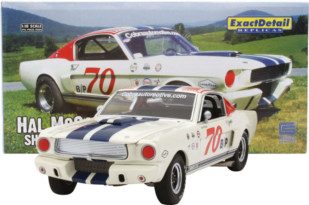 Ford shelby gt - 350 - hal mccarty genaue details 1,18 druckguss rennwagen acme gmp