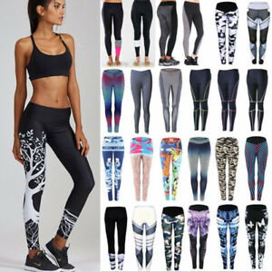 ae20514d11 Image is loading Women-High-Waist-Compression-Tights-Yoga-Pants-Fitness-