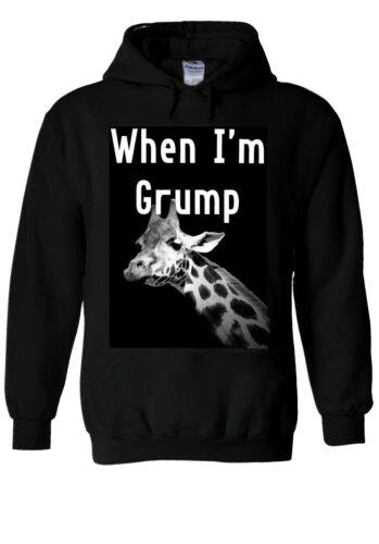 GIRAFFE WHEN I/'M GRUMP Animal Hoodie Sweatshirt Jumper Men Women Unisex 1941