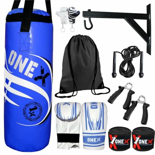 Boxing Punching Bag Filled Heavy Duty MMA Mitts Hanging Fitness Training Bag Set