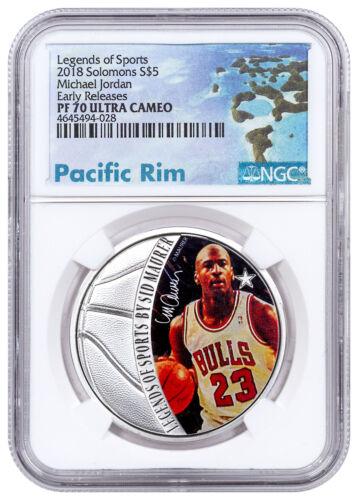 2018 Solomon Sports Legends Michael Jordan 1oz Silver $5 NGC PF70 UC ER SKU51812
