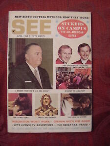 SEE magazine April 1969 J. Edgar Hoover Smothers Brothers Lion In Winter