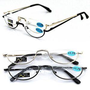 Half moon rim Vintage Spring Hinge Eyeglass Frames Reading ...