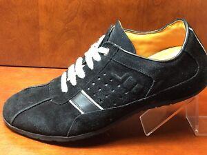 Zodiac-USA-Men-039-s-Black-suede-lace-up-plain-toe-casual-shoe-size-12-M-VGUC