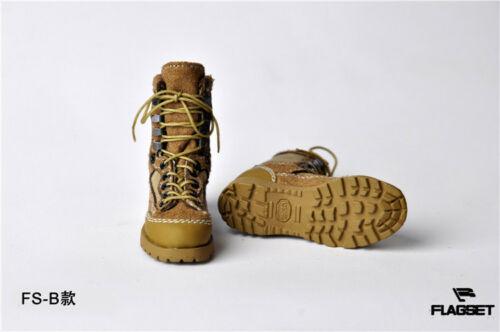1//6 Scale Male Combat Shoes Military Boots Model Toy For 12/'/' Action Figure Body