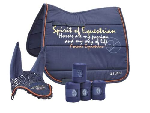 Busse, Spirit of Equestrian, Saddlecloth, Ear Cover, Bandages, Navy D and VS
