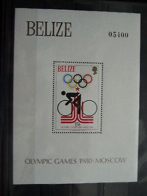 Belize Block 11 ** Olympiade Moskau Um Eine Reibungslose üBertragung Zu GewäHrleisten