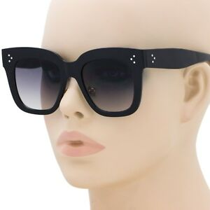 d3f4382456a Image is loading Large-Oversized-Square-Sunglasses-Women-Fashion-Thick-Retro -