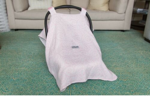 THE WHOLE CABOODLE MUSLIN 5 PC SET CAR SEAT CANOPY COVER BABY SHOWER BOYS GIRLS