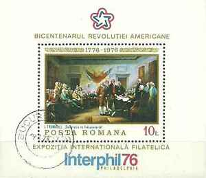 Timbre-Arts-Tableaux-Roumanie-BF124-o-lot-5158