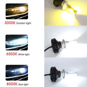 H7-LED-Headlight-Bulbs-Light-6000LM-Car-Conversion-3000K-6500K-8000K-Universal