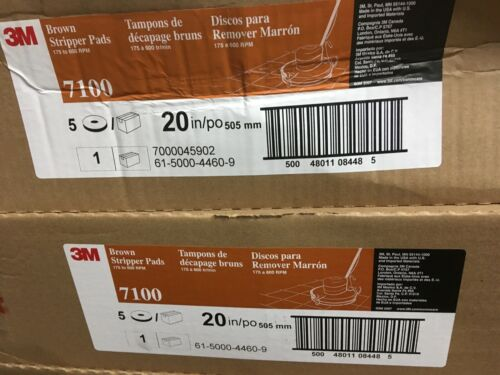 "2 Boxes 3M 7100 Nylon Polyester Fiber Stripping Pads 20/"" Brown  10 PCS"