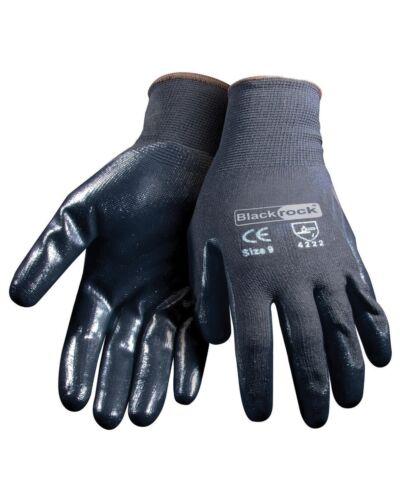 BlackRock Nitrile Super Grip Gloves for oily condition Size 8-11
