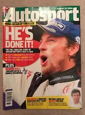 AUTOSPORT MAGAZINE AUGUST 10th 2006 Jenson Buttons First Win