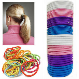 60 Mini Hair Band Bobbles Elastic Band crunchy Kids Ponytail Hair Ties Stretchy