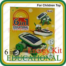 6 in 1 Educational Game Hybrid Solar Energy Robot Kit for Children Kids Toy