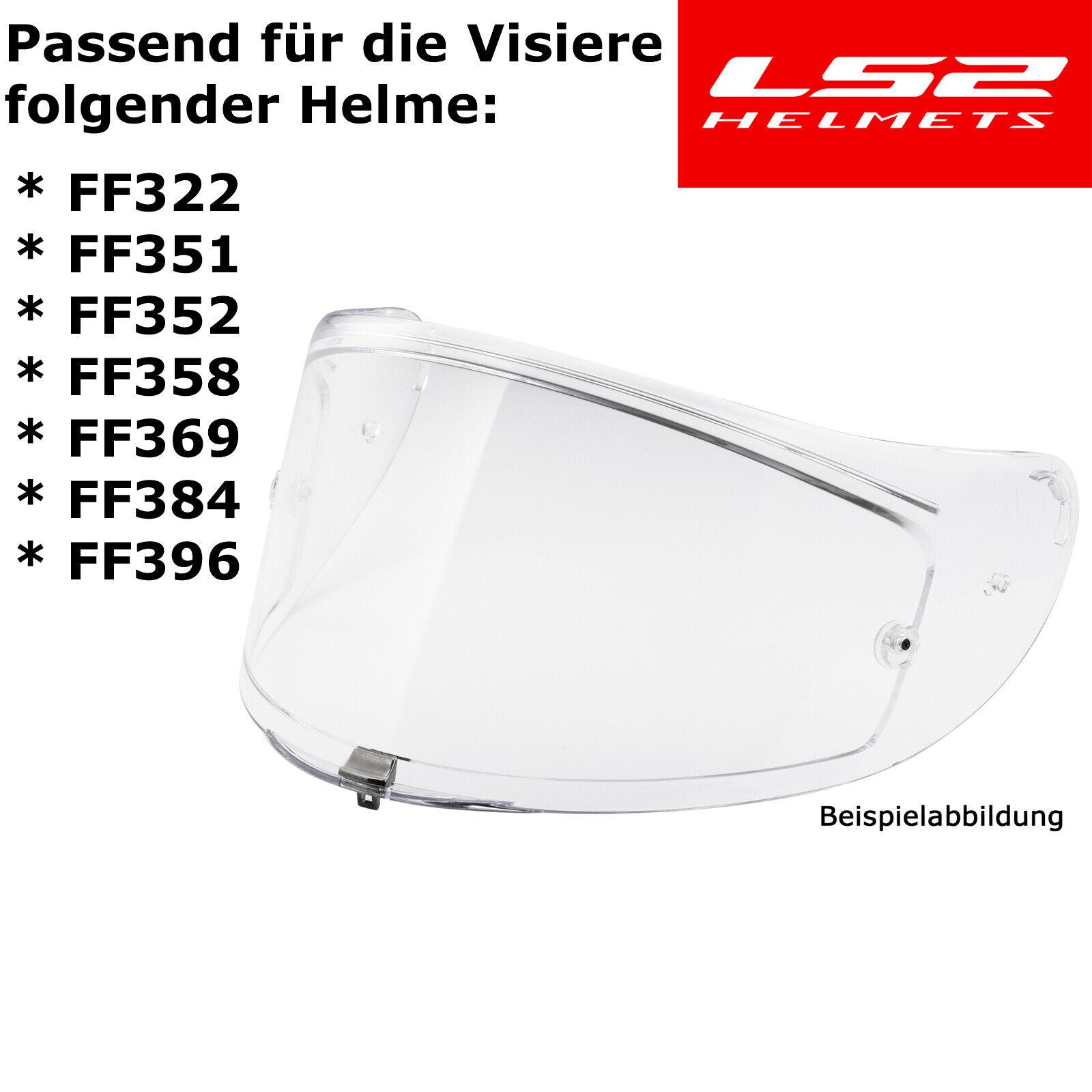 FF369 FF384 FF352 LS2 Visier BLAU-VERSPIEGELT für Helm FF351
