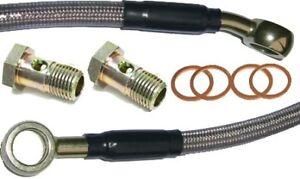 Braided-stainless-steel-Brake-Hose-56-cm-long