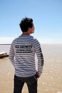 Unisex-Sea-Shepherd-Jolly-Roger-Long-Sleeve-Organic-striped-T-shirt