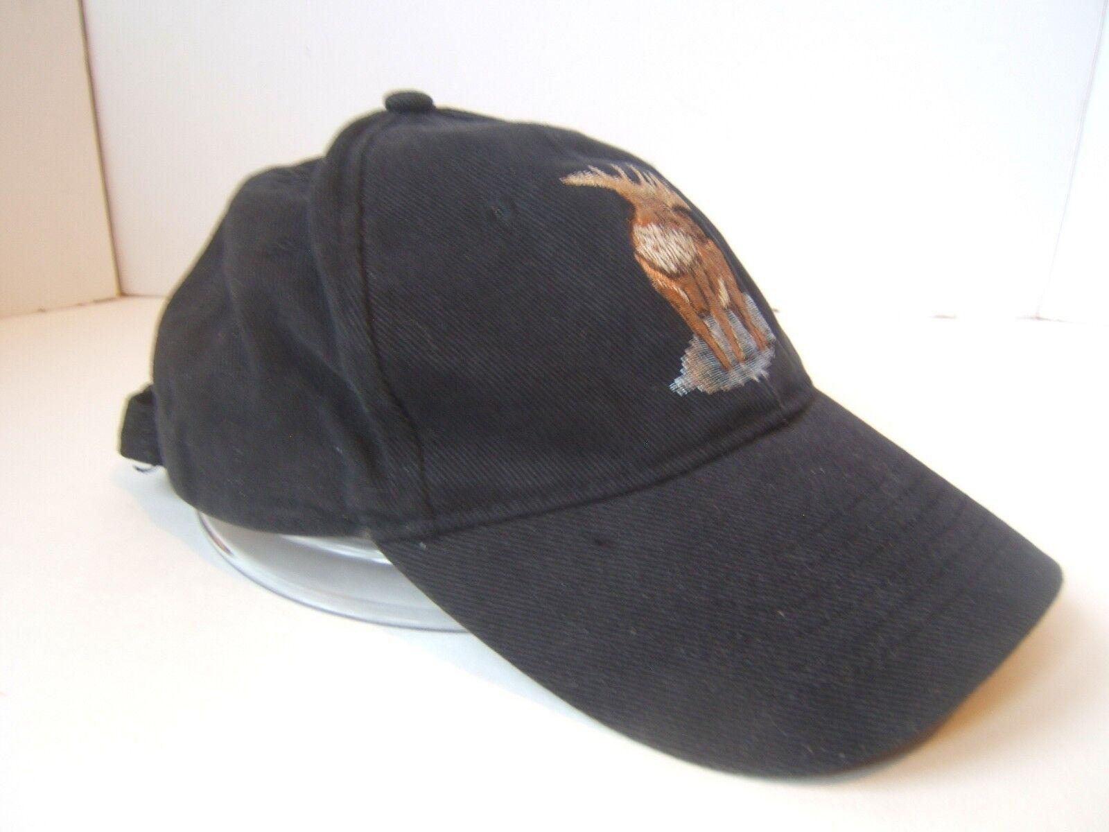 Bull Moose Black Hunting Strapback Baseball Hat Cap Hunting Black Nature Wildlife a83d2b