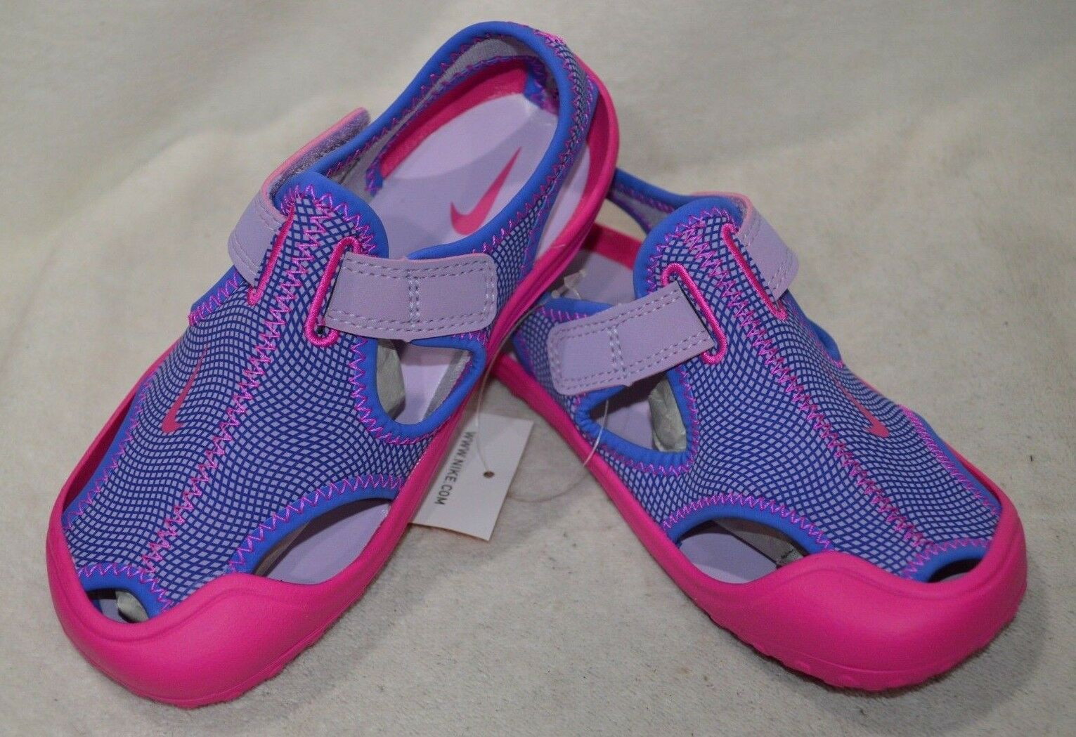 1b343a4dfa65 Girls Size 13 Nike Sunray Protect PS Water Shoes Sandals Purple Pink ...