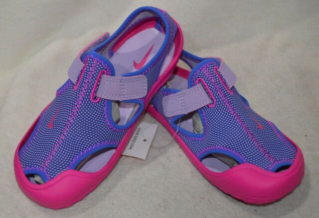 fa2d60bb1 Girls 1 Youth Nike Sunray Protect PS Water Shoes Sandals Purple Pink ...