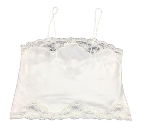 Vintage Christian Dior Logo Embroidered Lace Camis