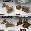 4-Pack-of-Siege-Weapons-28mm-Tabletop-Games-Dwarven-Forge-D-amp-D-Terrain-Wargaming