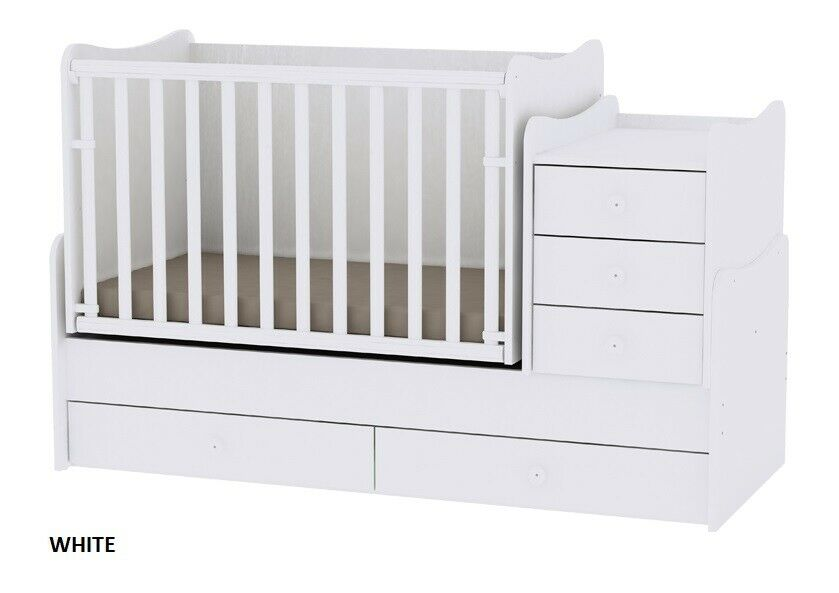 competitive price 94ec1 4aa16 Luxury convertible 3in1 baby bed/cot with a swing Lorelli Maxi+ in fancy  colours