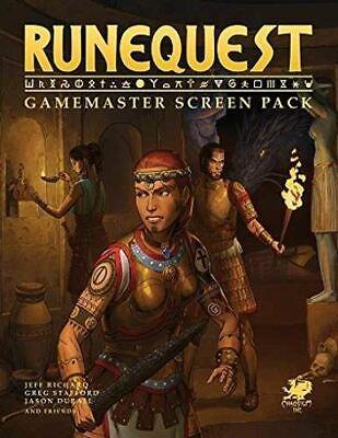Game Master Screen Pack Runequest Rpg A Glorantha-mostra Il Titolo Originale Carattere Aromatico E Gusto Gradevole