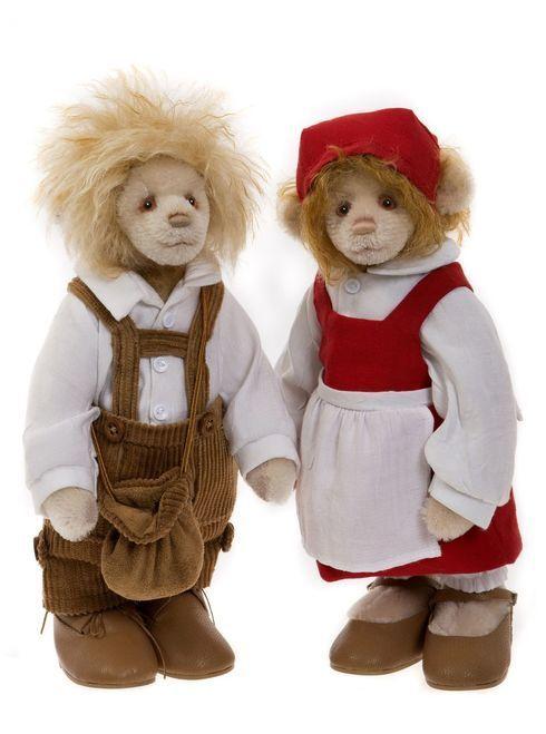 Charlie Bears Hansel e Gretel sj5849hg stata limitata 150 pezzi in tutto il mondo