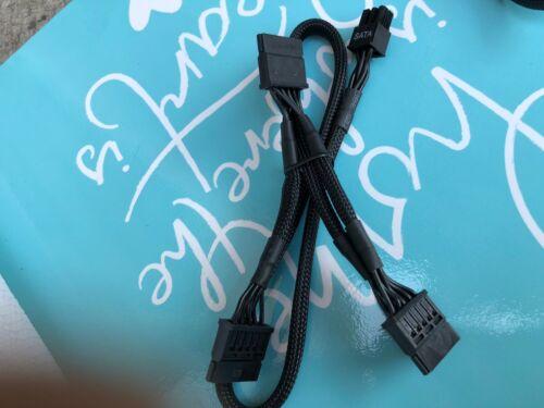 ORIGINAL EVGA SuperNOVA 750850 G2 G3 6 pin Perif to 3x SATA DRIVER cable Braided