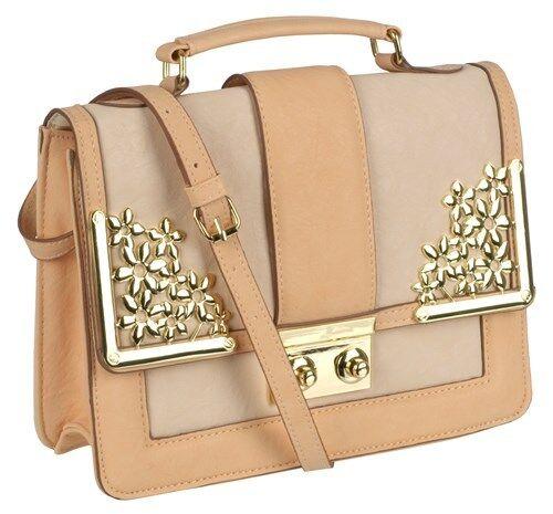 Womens Faux Leather Handbag Crossbody Messenger Ladies Shoulder Strap Bag