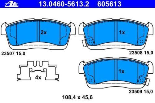 Ate discos de freno 234mm balatas delantero Daihatsu Sirion Cuore Charade trevis