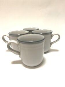 Noritake-SIERRA-TWILIGHT-Stoneware-Mug-set-of-4-Two-Toned-Gray-8667-Japan