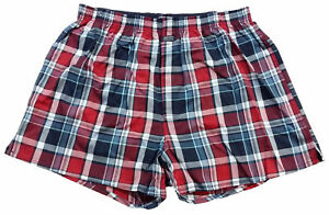 Jockey Men s Pack of 1 USA Originals Checked Design Woven Boxer ... 42d59290bc9a