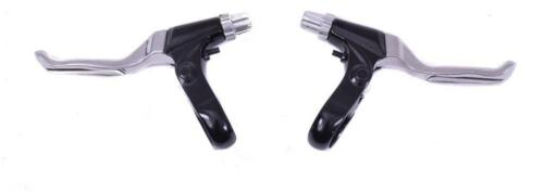 PAIR MTB V-BRAKE LEVERS ALLOY BODY /& ALLOY LEVER 2 FINGER BIKE BRAKE LEVERS–50/%