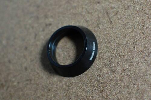 Tange Seiki Spacer schwarz Aluminium für 1,5 Zoll Steuersatz 15mm wie Bild