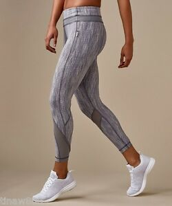0ec1bbc972 Image is loading Lululemon-Inspire-Tight-II -Luxtreme-Arrow-Jacquard-Battleship-