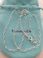 "Tiffany & Co. Oval Link Necklace Chain! 24"" Inches .925 Sterling Silver"