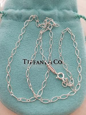 4ff82ed7e Details about Tiffany & Co. Oval Link Necklace Chain! 24