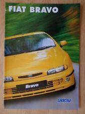 FIAT BRAVO ORIG 1998 1999 UK inchiostri SALES BROCHURE - 20 V HGT