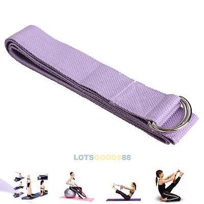 71'' Cotton Yoga Stretch Strap Training Belt Waist Leg Fitness Exercise Gym #L
