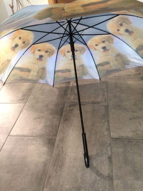 Schirm Stockschirm Regenschirm Labrador Hunde Babys automatik Urlaub Nordsee