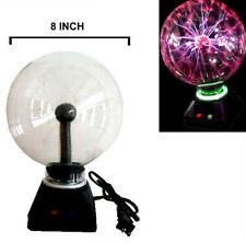 "LIGHTENING PLASMA BALL 8"" novelty lamps lights decor STATIC ELECTIC GLOBE LIGHT"