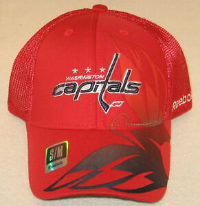 abfb891b2b0 Image is loading NHL-Washington-Capitals-Red-Fitted-Mesh-Back-Hat-