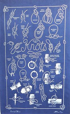 Fabric Poster Nautical Knots and Flags Galley Cloth Tea Towel
