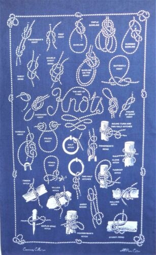 Fabric Poster The Art of Tying Knots Galley Cloth Tea Towel
