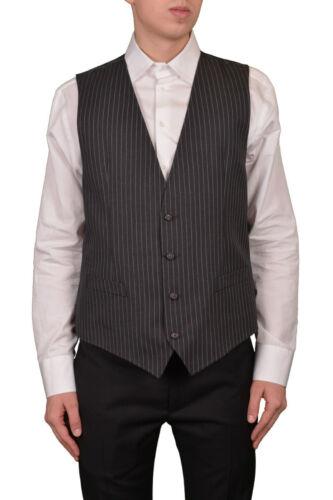 Dolce grigio quattro uomo vestono 42it Gabbana bottoni personal strisce lana TTq46wF