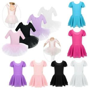 Girls-Ballet-Tutu-Dress-Gymnastics-Ballerina-Leotard-Dance-wear-Skirt-Costume